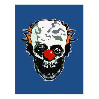 Zombie clown postcard