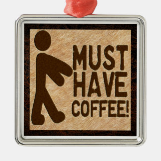 Zombie Coffee Metal Ornament