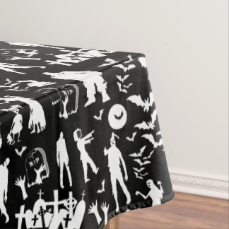 Zombie Collage Walking Dead Halloween Tablecloth