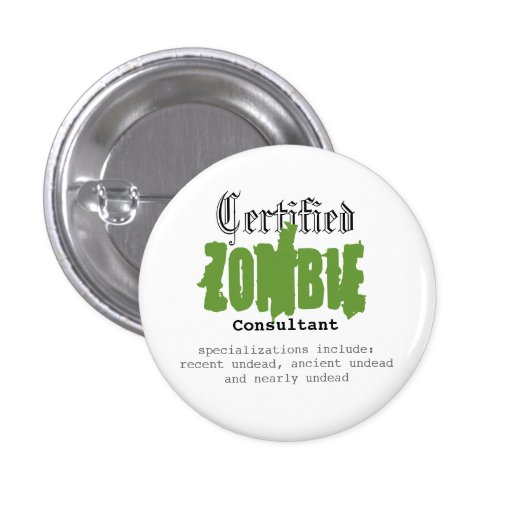 Zombie Consultant Pins
