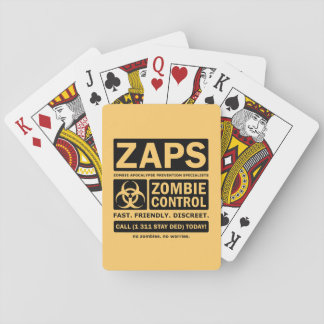 Zombie Control Playing Cards