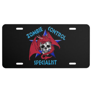 Zombie Control Specialist License Plate