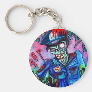 Zombie Cop Keychain