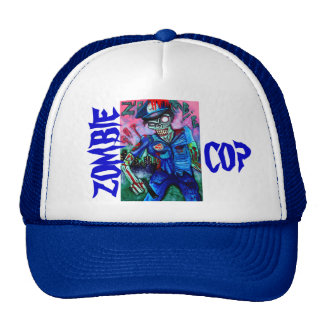 Zombie Cop Trucker Hat