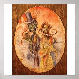 Zombie Couple Poster