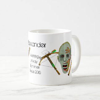 Zombie Crossbow Bat | Funny Summer Add Your Name Coffee Mug