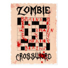 Zombie crossword postcard