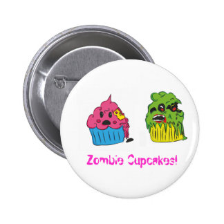 Zombie Cupcake Badge 2 Inch Round Button