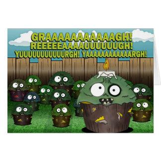 Zombie Cupcake Birthday #2 Card