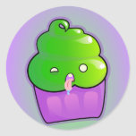 Zombie Cupcake Round Stickers