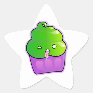 Zombie Cupcake Star Sticker
