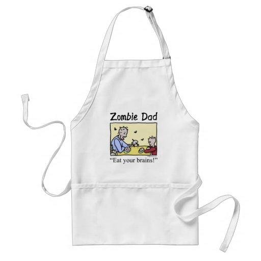 Zombie dad , eat your brains apron