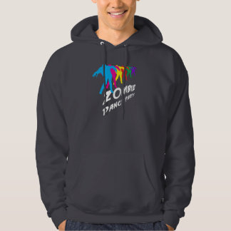 Zombie Dance Party (white text) Hoodie