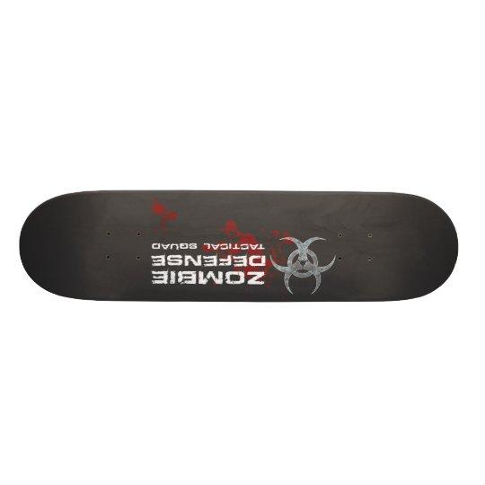 Zombie Defence Tactical Squad board - black Skateboard Decks