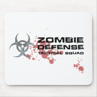 Zombie Defense Tactical Squad mousepad white