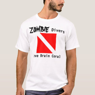 Zombie Divers Love Brain Coral T-Shirt