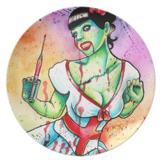 Zombie Doll Nurse Tattoo Flash Plate
