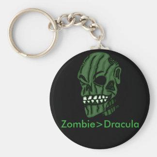 Zombie>Dracula Keychain