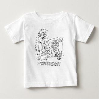 Zombie Eats Raisin Brain Cereal For Breakfast Baby T-Shirt