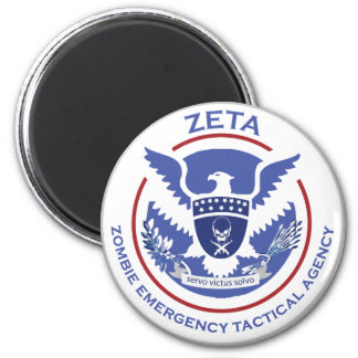 Zombie Emergency Tactical Agency Logo/Seal 2 Inch Round Magnet