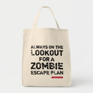 ZOMBIE ESCAPE PLAN (multi styles available) Grocery Tote Bag
