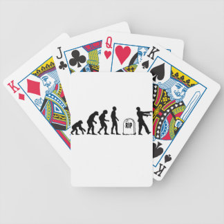 ZOMBIE EVOLUTION BICYCLE PLAYING CARDS