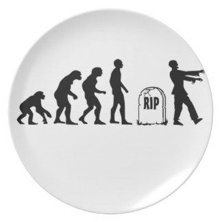 ZOMBIE EVOLUTION PARTY PLATE