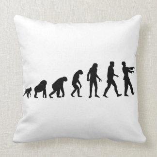 Zombie evolution throw pillow