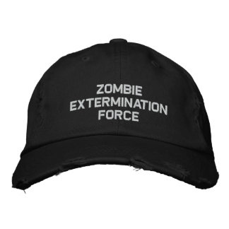 ZOMBIE EXTERMINATION FORCE EMBROIDERED BASEBALL CAPS