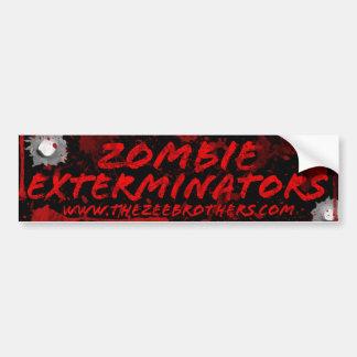 Zombie Exterminators Black Blood & Bullets Sticker