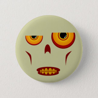 Zombie Face - Clenched Teeth Button