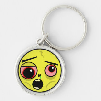 Zombie Face Keychain