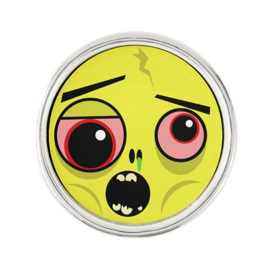 Zombie Face Lapel Pin