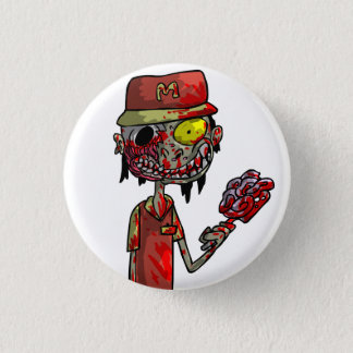 Zombie Fast-Food Worker 1 Inch Round Button