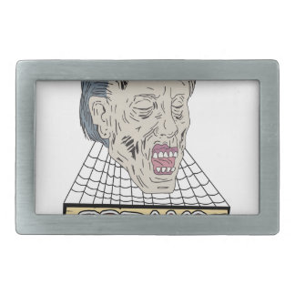 Zombie Freaks Cobwebs Drawing Belt Buckles