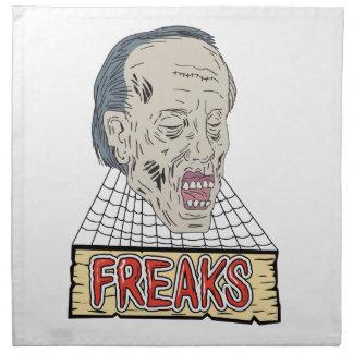 Zombie Freaks Cobwebs Drawing Napkin