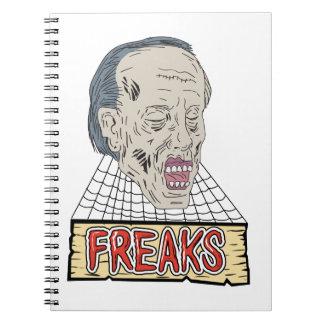 Zombie Freaks Cobwebs Drawing Notebooks