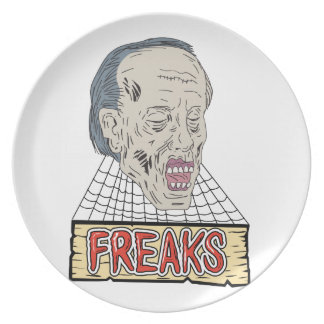 Zombie Freaks Cobwebs Drawing Plate