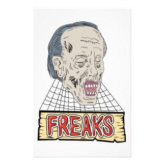 Zombie Freaks Cobwebs Drawing Stationery
