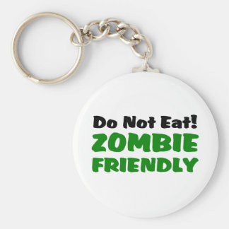 Zombie Friendly Do Not Eat Basic Round Button Keychain