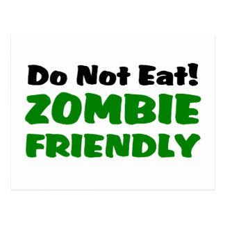 Zombie Friendly Do Not Eat Postcard