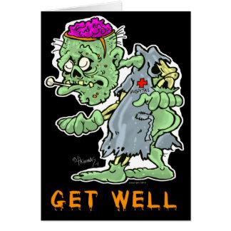 """Zombie Get Well Card """"Feeling Rotten?"""""""