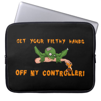 Zombie Get Your Hands Off My Controller Laptop Computer Sleeves