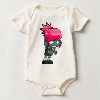 Zombie Girl Cartoon Baby Bodysuit