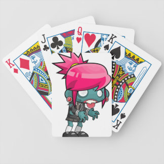 Zombie Girl Cartoon Bicycle Playing Cards