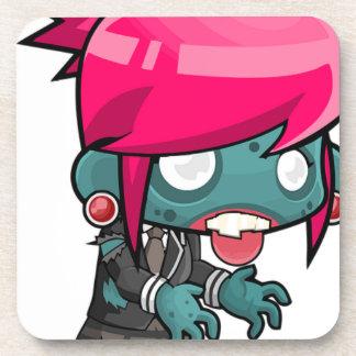 Zombie Girl Cartoon Coaster