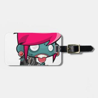 Zombie Girl Cartoon Luggage Tag