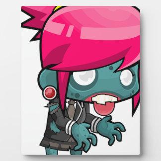 Zombie Girl Cartoon Plaque