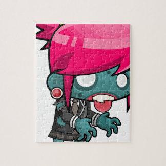Zombie Girl Cartoon Puzzle