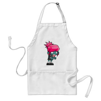 Zombie Girl Cartoon Standard Apron